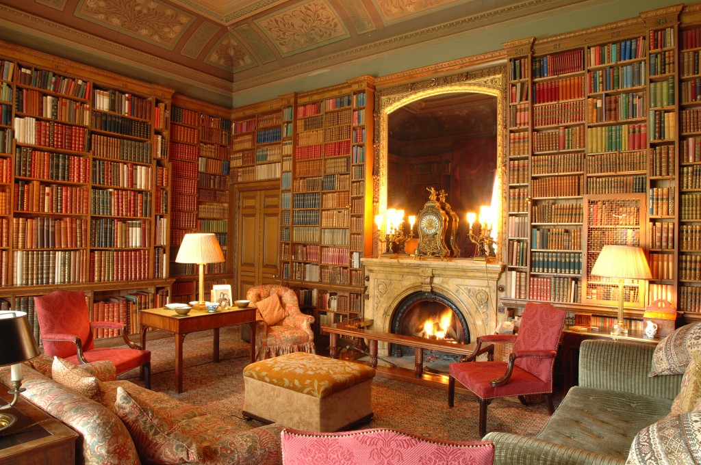 Library at Elton Hall and Gardens