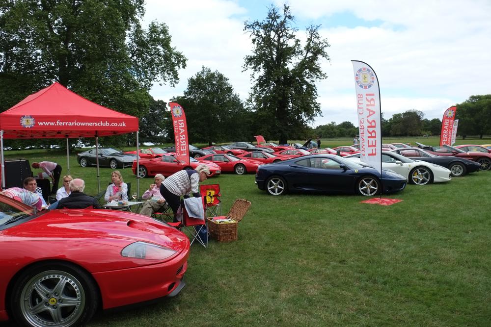 Ferrari Event at Elton Hall