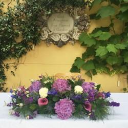 Flower display in the orangery
