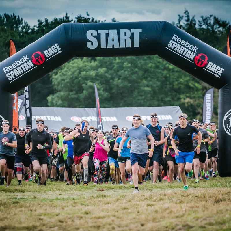 Spartan Race Start at Elton Hall