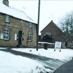Post Office at Elton in the snow